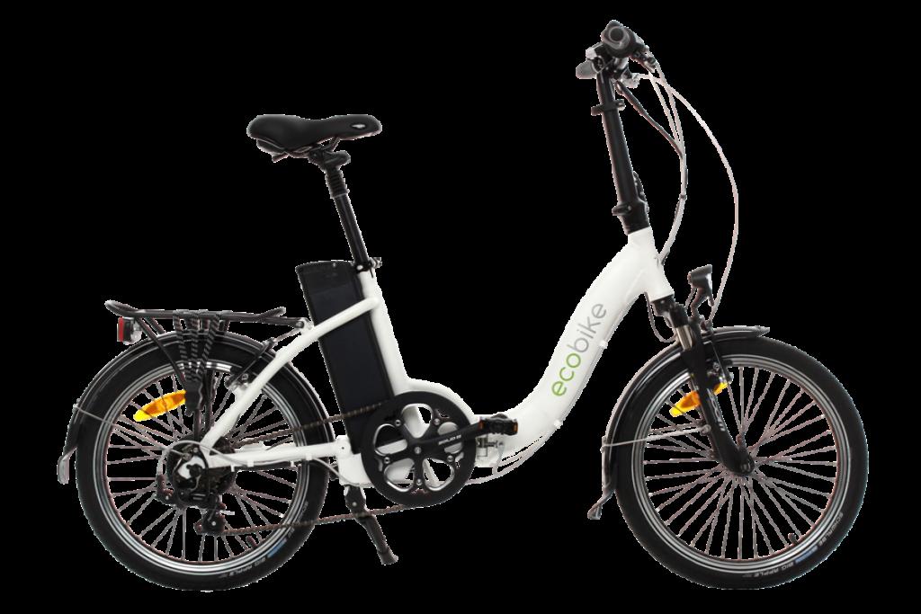 rower elektryczny ecobike even white, rowery składane